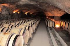 In de kelders van Château Meursault.