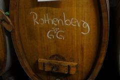 Rheinhessen; bij Gunderloch in Nackenheim. Vaatje met de beste wijn.
