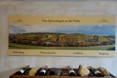 Nahe; wijngaarden en bijbehorende grondsoorten bij Schlossgut Diel in Rümmelsheim.