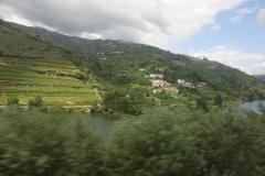 Met de trein langs de Douro wijngaarden.eis-Douro