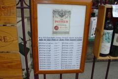 De prijzen voor een flesje Petrus in 2006